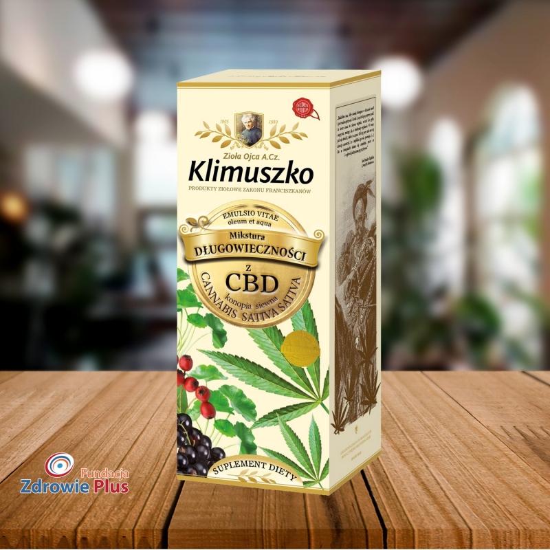 Mikstura długowieczności z CBD 250 ml Zioła Ojca Klimuszko